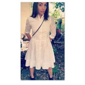 MK Daisy Eyelet Shirt Dress